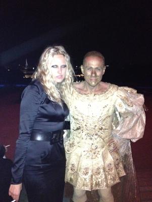 Vita Zaman and Life Ball founder and organisator Gerry Keszler