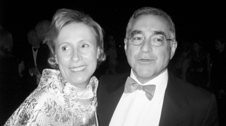 Karola Kraus, director of MUMOK, and a friend