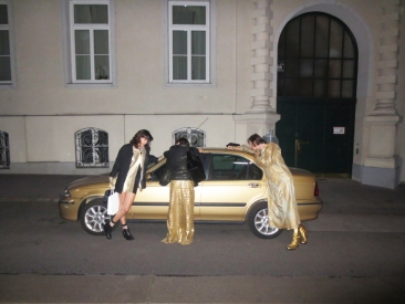 the golden car