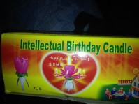 Intellectual birthday candle