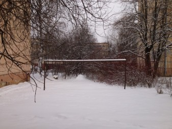 The back yard in Kaunas