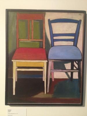 """""""Krzesła"""" , (1956) by Andrzej Wróblewski"""