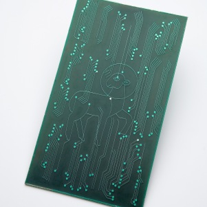 Intergrated circuit board 8x15 cm 2007.