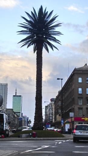 Palm Tree by Joanna Rajkowska in Warsaw's city center