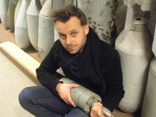 artist Zsolt Asztalos, Photo: Gabriella Uhl