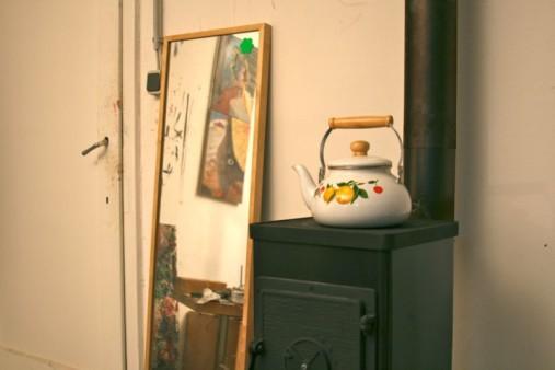 Stove at Nazim's studio