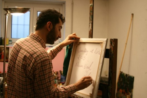 Nazim Unal Yilmaz in his studio