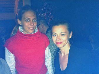 curator Luisa Ziaja (right)