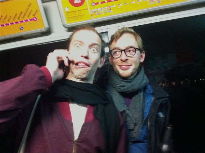 Austrian artists Nick Oberthaler (left) and Christoph Meier
