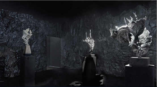 Eszter Csurka: Interieur Sculptures born under water, 2013 photo : György Darabos