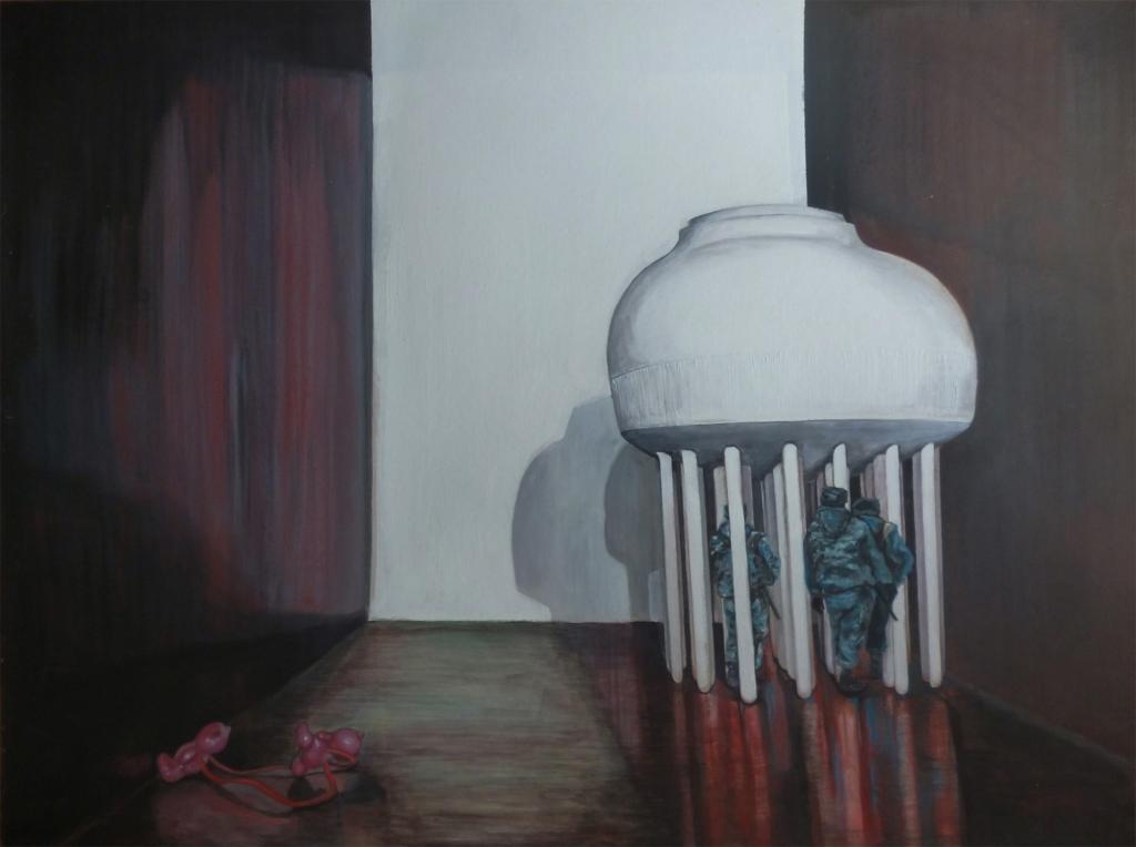 Bahyt Bubikanova Metaphysics series, 2013 acrylic on canvas 158x210 Courtesy IADA
