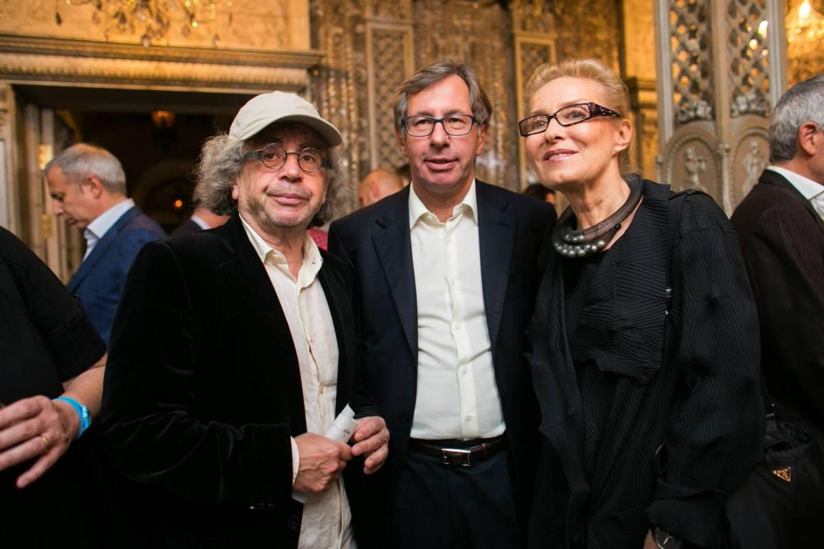 Alex Lachmann, Pyotr Aven and Olga Sviblova