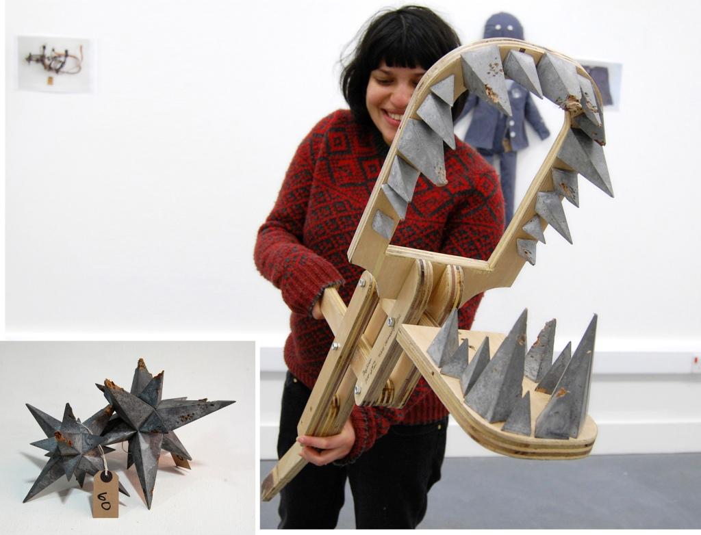Tobias Sternberg Dogbiter, 2012 sculpture, wooden christmas decoration, plywood, 100x15x20cm Photo credits- Tobias Sternberg