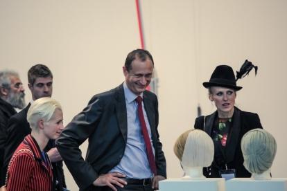 Christina Steinbrecher-Pfandt, Andreas Mailath-Pokorny and Vita Zaman