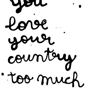 "VIENNA Love: ""You Love Your Country Too Much"""