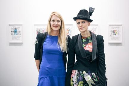 Eva Dichand and Vita Zaman