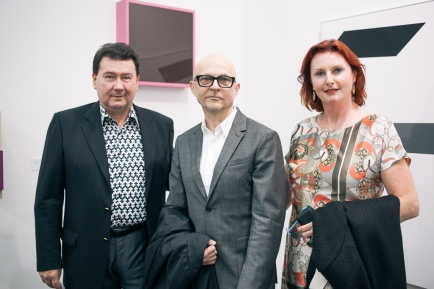 Roman and Margot Fuchs with Gerwald Rockenschaub