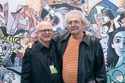 Ernst Hilger and Mel Ramos