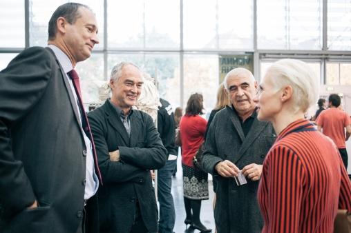 Andreas Mailath-Pokorny, Hans Kupelwieser, Peter Noever and Christina Steinbrecher-Pfand