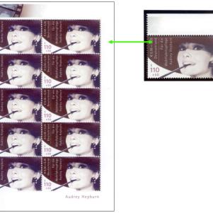 Audrey Hepburn Stamp, photo: Christoph Fein, Essen, 2013
