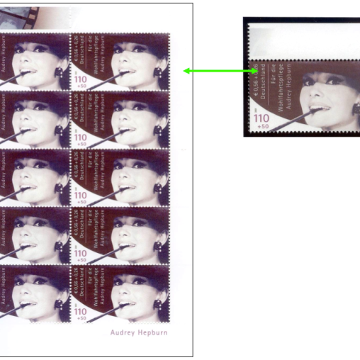 Audrey Hepburn Stamp, photo: Christoph Fein, Essen, 2013