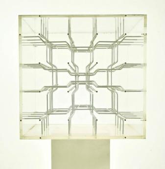 """Vjenceslav Richter """"Steplike Spatial Sculpture"""", detail, 1986"""