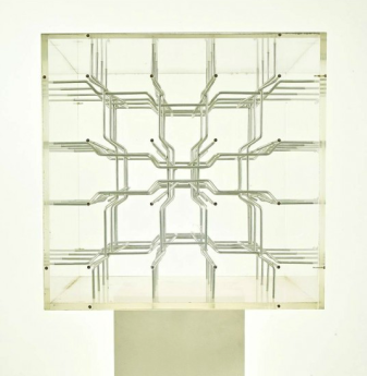 "Vjenceslav Richter ""Steplike Spatial Sculpture"", detail, 1986"