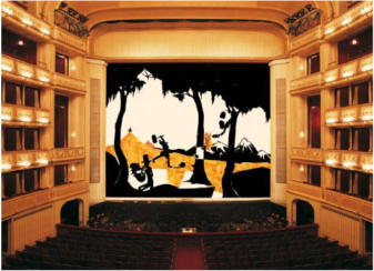Kara Walker, Safety Curtain, 1998/1999 Photo: Museum in progress