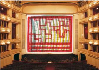 Christine and Irene Hohenbüchler, Safety Curtain, 1999/2000 Photo: Museum in progress