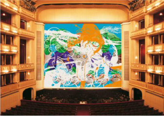 "Jeff Koons, ""Geisha"", Safety Curtain, 2007/2008 Photo: Museum in progress"