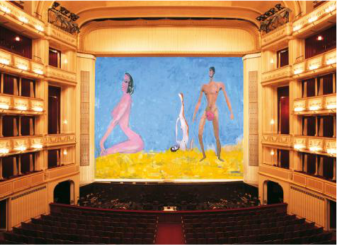 "Franz West, ""Drei – Vom Vorgang ins Temperament"", Safety Curtain, 2009/2010 Photo: Museum in progress"