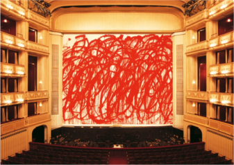 "Cy Twombly, ""Bacchus"", Safety Curtain, 2010/2011 Photo: Museum in progress"
