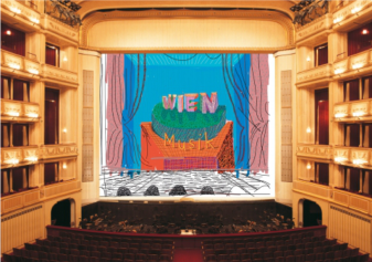 David Hockney, Safety Curtain, 2012/2013 Photo: Museum in progress