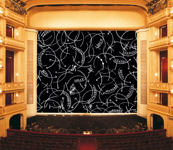 Oswald Oberhuber, Safety Curtain, 2013/2014 . Photo: Museum in progress