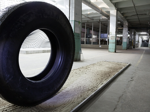 «WHEEL» © Recycle Group. 2012 Installation at the second Ural Biennial