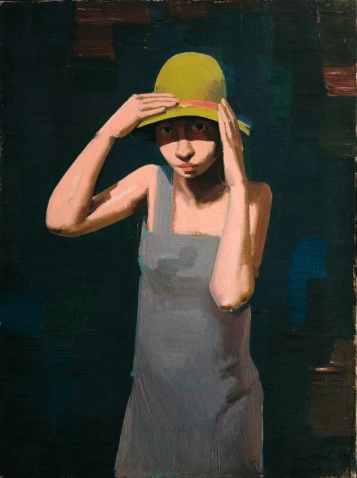 Franz Lerch Mädchen mit Hut, 1929 Öl auf Leinwand 80 x 60 cm © Belvedere, Wien