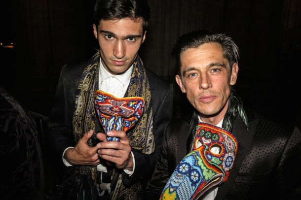 Werner Schreyer rocking the Etro look with a colleague