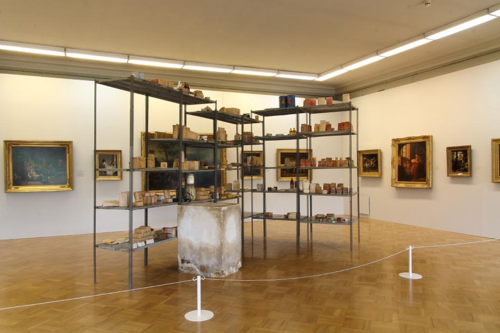 Joseph Beuys,Wirtschaftswerte (Economic Values),Collection of S.M.A.K. Stedelijk Museum voor Actuele Kunst, Ghent, Belgium.Installation view, MANIFESTA 10