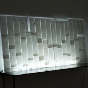Szilárd Cseke. Jobcentre I (detail), 2012. Installation 85 x 191 cm