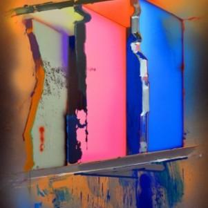 Márton Nemes, Open Blocks 10, 2014 Painting , 190 x 120 cm