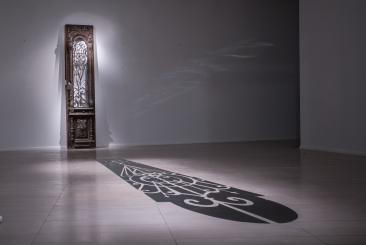 Aida Mahmudova, Untitled, 2014, wood, stainless steel and iron. 695 x 105 x 266cm. Courtesy of the artist and YARAT