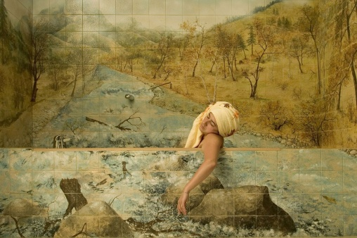 Irina Botea Out Of The Bear, 2004 Video Duration: 6 min Courtesy Anca Poteraşu Gallery, Bucharest