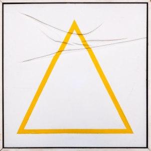 Vincentiu Grigorescu, Geometrie Casuali I, 1973-1975, oil on canvas, 70 x 70 cm