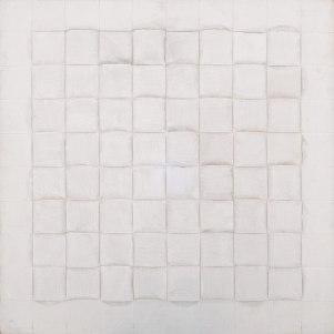 Vincentiu Grigorescu, Intereccio II, 1982-1986, acrylic on wooden panel, 80 x 80 cm