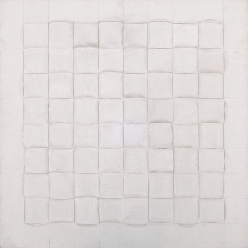 Vincentiu Grigorescu, Intereccio II, 1982-1986, acrylic on wooden panel, 80 x 80 cm