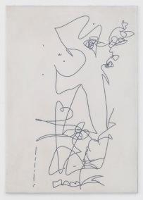 Julia Haller, Untitled, 2014, Pigment, Acryl, Aluminium auf Mineralstoffplatte 75,4 x 53,2 cm