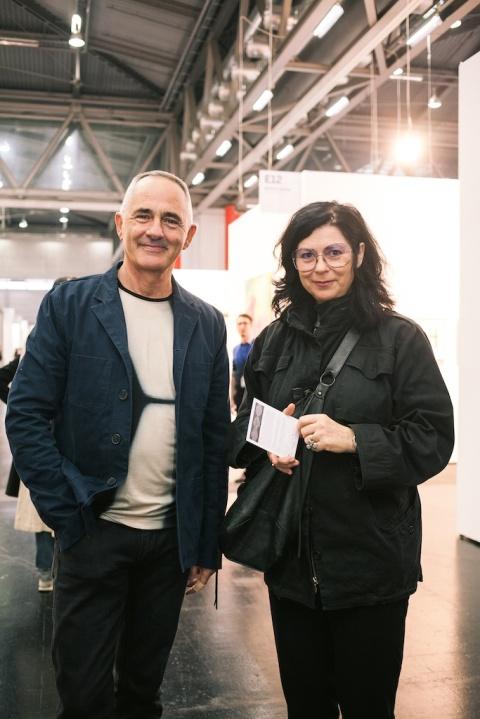 Manfred Wakolbinger, Eva Schlegel © VIENNAFAIR / Jakob Polacsek