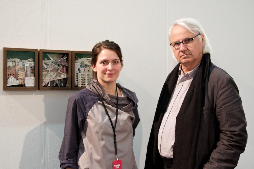 Artist Claudia Larcher, Professor Bernhard Leitner