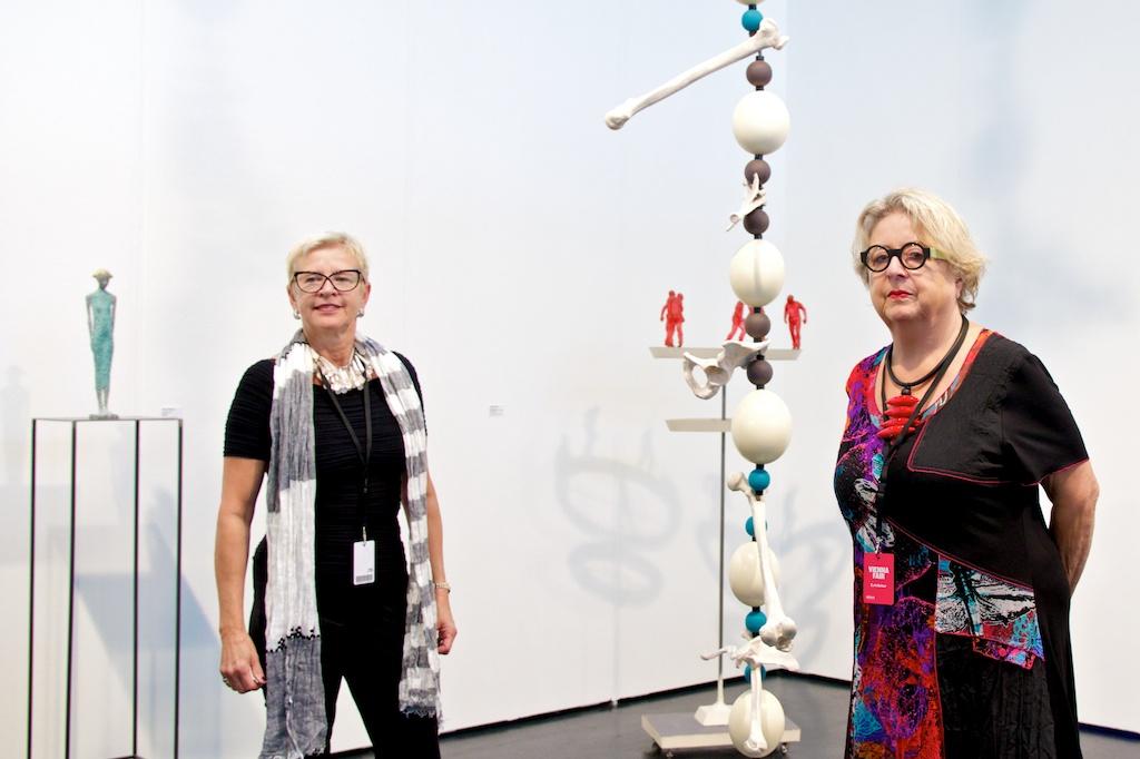 Roswitha Straihammer, Dagmar Chobot at VIENNAFAIR 2014