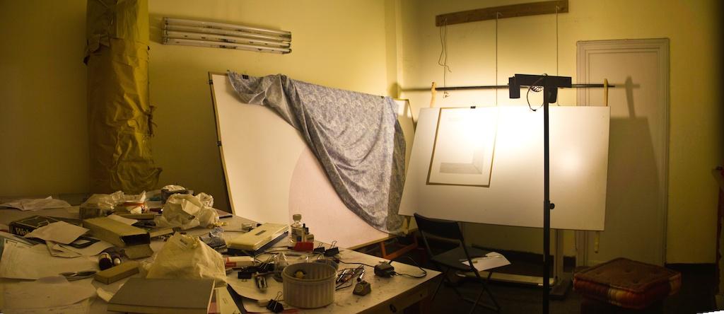 Waqas' studio. ©Waqas Khan